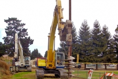 Drilling for field lighting installation in Watsonville, CA